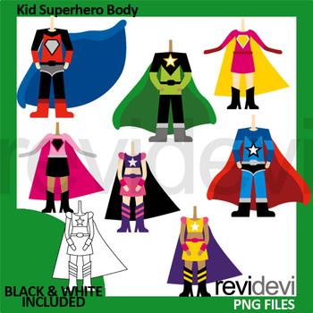 Kid Superhero Body Clipart