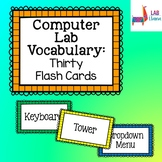 Computer Lab Vocabulary - 30 Flash Cards