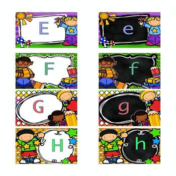 Upper/Lower case letter match - Kid theme