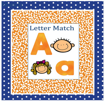 Upper/Lower case letter match - Kid theme