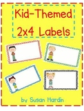 Kid-Themed 2 x 4 Labels (Can be edited)