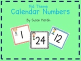 Kid Themed Calendar Numbers