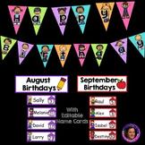 "Kid Themed ""Editable"" Birthday Bulletin Board Set"