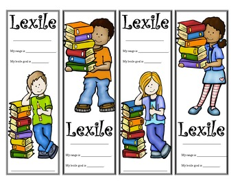 Kid Themed Lexile Bookmarks
