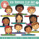 Kid Toppers Clip Art - Pencil Kids