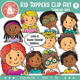 Kid Toppers Clip Art – Thinking Kids