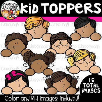 Kid Toppers Clipart {Kid Clipart}
