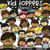 Kid Toppers Clipart {clipart toppers}