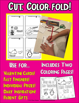 Kid Valentine's Day Quote Cards in Spanish and English! Set TWO of San Valentín