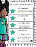 Kid Writing Rubric Kindergarten All Star Writers Rubric Se