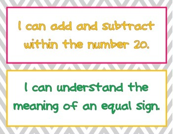 Kid friendly I can statements for the common core standards for ELA and math