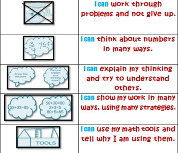 Kid friendly Mathematical Practices
