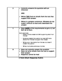 Kid-friendly Version of (2 Point) Short Response Writing Rubric
