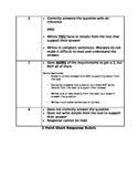 Kid-friendly Version of (2 Point) Short Response Writing Rubric