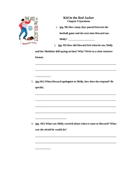Kid in the Red Jacket Chapter 9 Questions