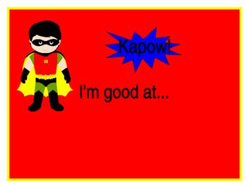Kid of the week super hero board