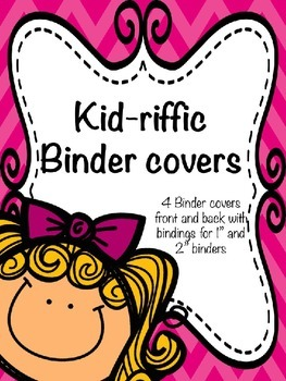 Kid-riffic Editable binder covers with spine