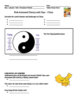 Kid's Animated History with Pipo China