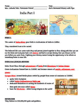 Kid's Animated History with Pipo India Video Guide