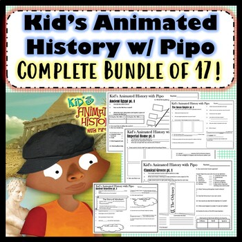 Kid's Animated History with Pipo -Bundle-Time Compass Worksheets