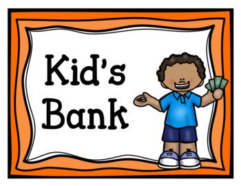 Kid's Bank (Dramatic Play)