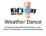 Weather Dance by Kid's Day Music -  Song and Lesson Plan