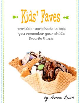 Kid's Faves Worksheets