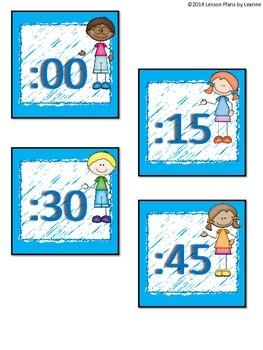 'Kid-tastic' Analog Clock Labels  Back To School