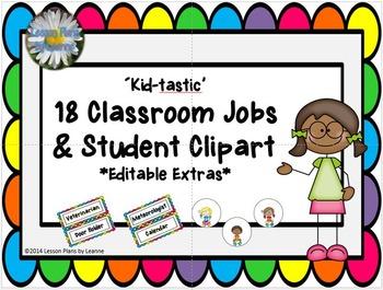 'Kid-tastic' Classroom Jobs Chart EDITABLE