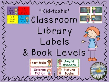 'Kid-tastic' Classroom Library Lables & Book Lables  Back To School