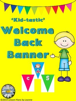 'Kid-tastic' Wecome Back Banner  Back To School
