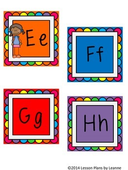 'Kid-tastic' Word Wall Letters  Back To School