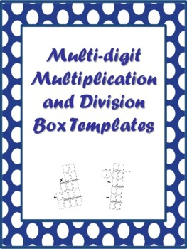 NEW Multi-digit Multiplication & Division Box Templates (4