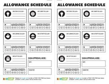 KidCash Allowance Schedule