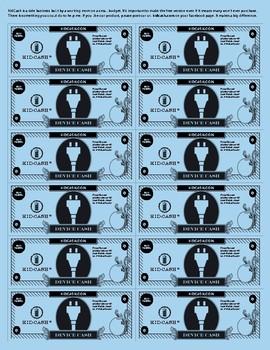 KidCash Device Dollars
