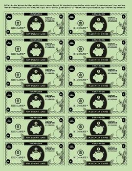 KidCash Savings Dollars