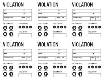 KidCash Violation Tickets