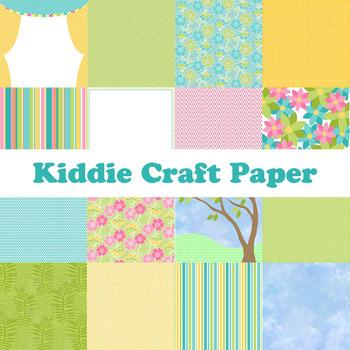 Designer's Resource: Kiddie Craft Printable Digital Paper