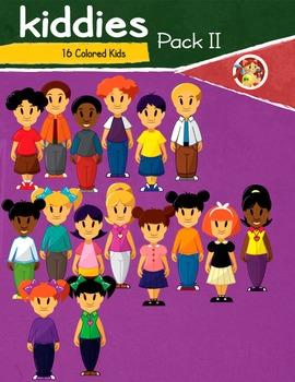 Kiddies II - Colored Kids Cliparts