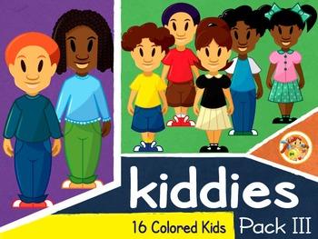 Kiddies III - Colored Kids Cliparts