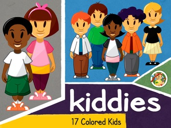 Kiddies- Colored Kids Cliparts