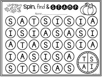 Alphabet Spinner-Halloween