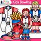 Kids Bowling League Clip Art {Sports Equipment for Gym Teachers & Coaches}