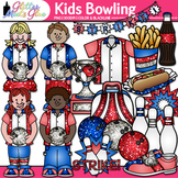 Kids Bowling League Clip Art: Physical Education Graphics