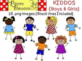 Kiddos {Primary Polka Dots Clip Art}