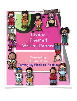Kiddos Themed Writing Paper