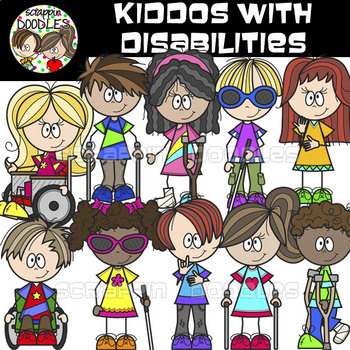 Kiddos with Disabilities {Disability Clip Art}