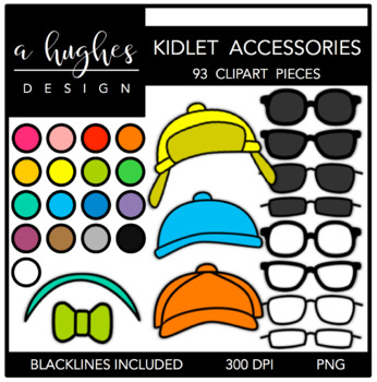 Kidlet Accessories {Graphics for Commercial Use}