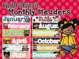 Kidlet Monthly Calendar Headers 2