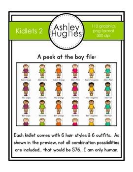 Kidlets Clipart Set 2 {A Hughes Design}